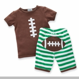 Mud Pie - Football Short Set