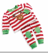 Christmas Long Johns - Reindeer Striped