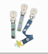 Sports Embroidered Pacifier Clip - CHOOSE STYLE