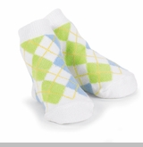 Little Boys Argyle Dress Socks - White/ Blue