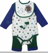 Newborn Boys -Navy Football Layette Gift Set - 4 PC