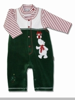 Le Top Boys Velour Christmas Overall  sold out 812