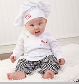 Baby Chef Gift Layette Set - 3 Pieces in Culinary Gift Box