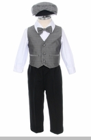 Infant Boys Grey Vest Set with Hat - 5 PC Set