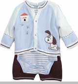 Vitamins Baby - Puppy Sweater Boys Gift Set - 3 Month last one
