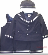 Boys Nautical Sailor Suit with Hat- Navy sold out