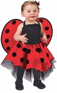 Infant Ladybug Costume Dress / Wings