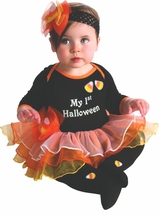 My First Halloween Costume - Halloween Tutu Dress, Tights and Headband