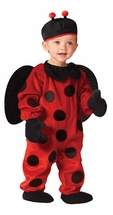 Plush Baby Ladybug Costume with Hat
