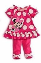 Minnie Mouse Inspired Legging Set - Fuchsia Polka Dots Size 6