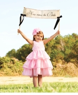 Mud Pie - Pink Rose Silk Dress