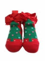 Red Christmas Tree Infant Socks (fits 0-12 month)