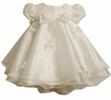 Newborn Girls Special Occasion Dress - Ivory   SOLD OUT