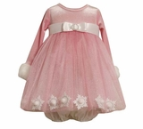 Little Girls Pink Snowflake Dress SOLD OUT