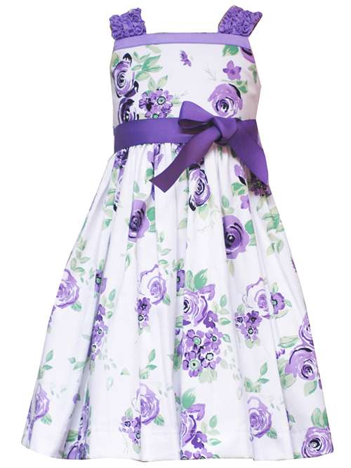 Rare Editions Girls Easter Dress - Lilac Floral Print Dress at Sears.com