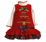 Bonnie Jean Christmas Tree Dress Newborn to Girls 6X