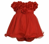 Little Girls Red Dress -  Beautiful Party Dress  24  month - 4T