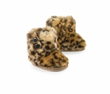 Faux Fur Leopard Baby Booties  sold out