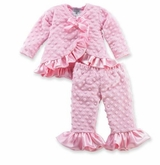 Mud Pie Newborn or Infant Pink Minky Pant Set  SOLD OUT