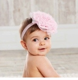 Pretty in Pink Soft Rosette Headband by Mud Pie