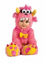 Infant Girls Monster Costume -  Pink Monster Pinky Winky