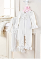 Mud Pie Cream Velour Ruffle One Piece   Gorgeous