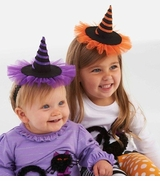 Mini WItch Hat Headbands - Choose Color