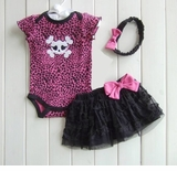 Diva Skull Tutu Set  - Baby Halloween Outfit Unique