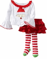 Santa Tab Skirt Set -  Baby or Toddler Girls Christmas SOLD OUT