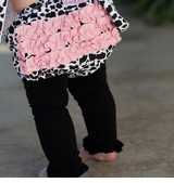 Rufflebutts BLACK Tights Leggings (pictured under bloomer)
