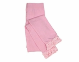 Pink Ruffled Tight Leggings - Newborn to Toddler Size