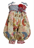Newborn or Infant Vintage Print Smocked Romper - sold out