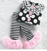 Perfectly Princess Ruffle Top with Biker Pants  12-18 month - sold out