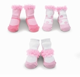 Baby Socks - Girls Chiffon Ruffle Sock Set - 3 PAIRS! out of stock
