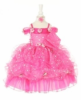 Little Girls Pink Pageant Dress Dress with Headband - STAR Glitter - sold out