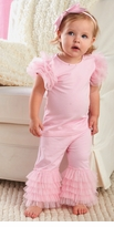 Pretty in Pink Ruffle Pant Set    sold out