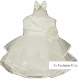 Beautiful Baby Dress - Matte Satin and Tulle - IVORY SOLD OUT