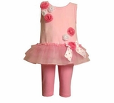 Toddler Girls Summer Clothes Pink Rose Tunic and Legging