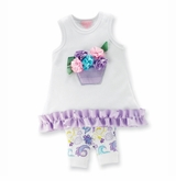 Flower Basket Tunic and Capri Set -  0-6 month - SOLD OUT