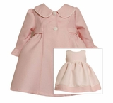 Toddler Girls Pink Ruffle Sleeve Coat and Dress 2T One Left