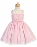 LITO Pink Heart Tulle Flower Girl Dress  Newborn to Girls 12