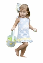 Infant or Toddler Bunny Sundress -  Chenille Bunny  SOLD OUT
