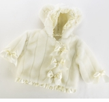 IVORY Hooded Faux Fur Infant Coat