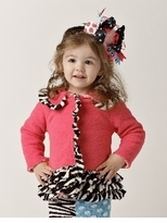 Zebra Ruffle Coat -  CLEARANCE