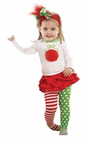 Infant or Toddler Christmas Skirt Set Outfit