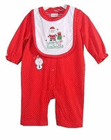 Baby's First Christmas Outfit and Bib