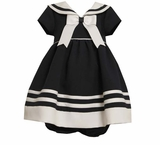 Navy Sailor Dress- Newborn or Infant