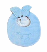 Blue Mommy's Angel Bib