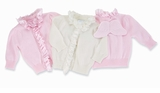 Baby Angel Wings Cardigan Sweater - Choose Pink or Cream