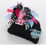 Baby Hat - Wild Child ZEBRA Crochet Hat